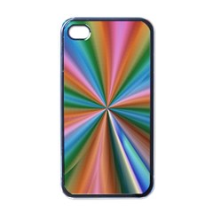 Abstract Rainbow Apple Iphone 4 Case (black)