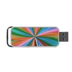 Abstract Rainbow Portable USB Flash (One Side) by OZMedia