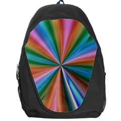 Abstract Rainbow Backpack Bag by OZMedia