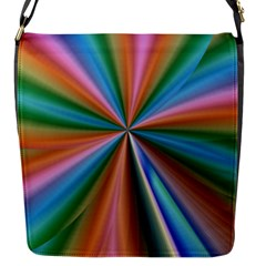 Abstract Rainbow Flap Messenger Bag (s) by OZMedia