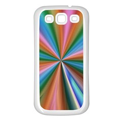 Abstract Rainbow Samsung Galaxy S3 Back Case (white) by OZMedia