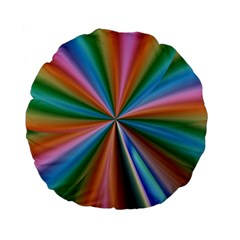 Abstract Rainbow Standard 15  Premium Flano Round Cushions