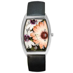 Beautiful Colourful African Daisies Barrel Metal Watches by OZMedia