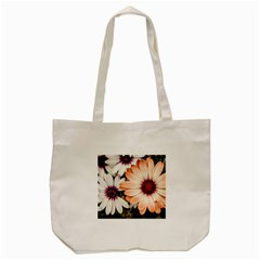 Beautiful Colourful African Daisies Tote Bag (cream)  by OZMedia