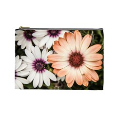 Beautiful Colourful African Daisies Cosmetic Bag (large)  by OZMedia