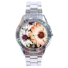 Beautiful Colourful African Daisies Stainless Steel Men s Watch by OZMedia