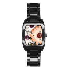 Beautiful Colourful African Daisies Stainless Steel Barrel Watch by OZMedia