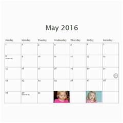 Grandma Groubert s Calendar 2016 B By Summer   Wall Calendar 11  X 8 5  (12 Months)   Jw4ocvvlcmfg   Www Artscow Com May 2016