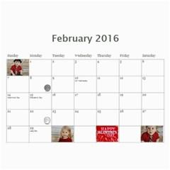 Grandma Groubert s Calendar 2016 B By Summer   Wall Calendar 11  X 8 5  (12 Months)   Jw4ocvvlcmfg   Www Artscow Com Feb 2016