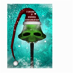 I Wish You A Merry Christmas, Funny Skull Mushrooms Large Garden Flag (Two Sides) by FantasyWorld7