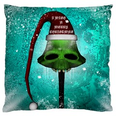 I Wish You A Merry Christmas, Funny Skull Mushrooms Standard Flano Cushion Cases (one Side)  by FantasyWorld7