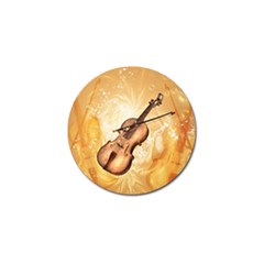 Wonderful Violin With Violin Bow On Soft Background Golf Ball Marker (10 Pack) by FantasyWorld7