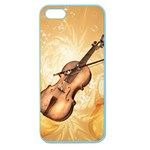 Wonderful Violin With Violin Bow On Soft Background Apple Seamless iPhone 5 Case (Color) Front