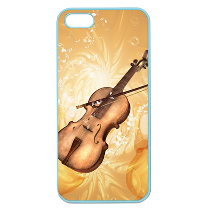 Wonderful Violin With Violin Bow On Soft Background Apple Seamless iPhone 5 Case (Color)