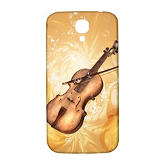 Wonderful Violin With Violin Bow On Soft Background Samsung Galaxy S4 I9500/i9505  Hardshell Back Case by FantasyWorld7