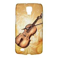 Wonderful Violin With Violin Bow On Soft Background Galaxy S4 Active by FantasyWorld7