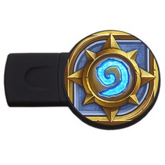 Hearthstone Update New Features Appicon 110715 USB Flash Drive Round (1 GB)  by HearthstoneFunny