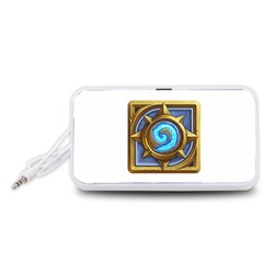 Hearthstone Update New Features Appicon 110715 Portable Speaker (White)  by HearthstoneFunny