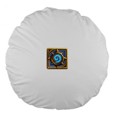 Hearthstone Update New Features Appicon 110715 Large 18  Premium Flano Round Cushions