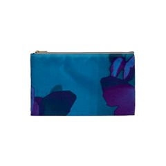 Purple And Turquoise Butterflies Cosmetic Bag (small)  by essentialimage