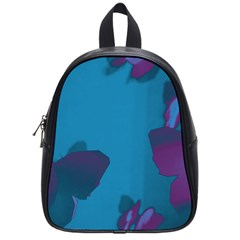Purple and Turquoise Butterflies School Bags (Small)  by essentialimage