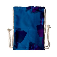 Purple And Turquoise Butterflies Drawstring Bag (small) by essentialimage