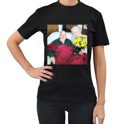Forever In My Heat Extra Large By Pamela Sue Goforth   Women s T Shirt (black)   F32f1joekivv   Www Artscow Com Front