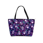 Flowers and Skulls Large Shoulder Bag