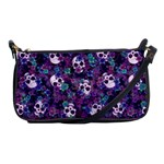 Flowers and Skulls Evening Bag
