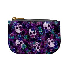 Flowers And Skulls Coin Change Purse by Ellador