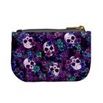 Flowers and Skulls Coin Change Purse Back