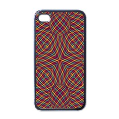 Trippy Tartan Apple Iphone 4 Case (black) by SaraThePixelPixie