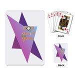 Jewish Veg01 12 7 2015 Playing Cards Single Design