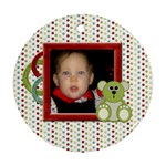 Baby s First Chrismas Ornament - Round Ornament (Two Sides)