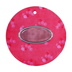 Baby Girl Ornament By Lisa Minor   Round Ornament (two Sides)   0d88fjghy0mg   Www Artscow Com Back