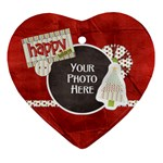 Happy Holidays Heart - Ornament (Heart)