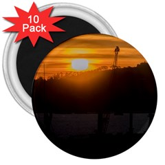Aerial View Sunset Scene Of Montevideo Uruguay 3  Magnets (10 Pack)  by dflcprints