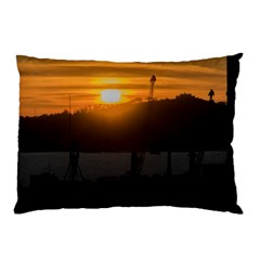 Aerial View Sunset Scene Of Montevideo Uruguay Pillow Cases