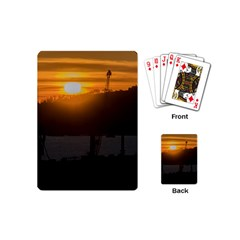 Aerial View Sunset Scene Of Montevideo Uruguay Playing Cards (mini)  by dflcprints