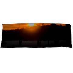 Aerial View Sunset Scene Of Montevideo Uruguay Body Pillow Cases Dakimakura (two Sides)  by dflcprints