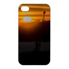 Aerial View Sunset Scene Of Montevideo Uruguay Apple Iphone 4/4s Premium Hardshell Case by dflcprints