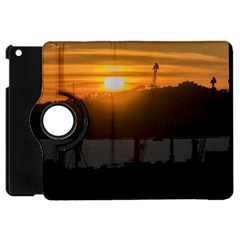 Aerial View Sunset Scene Of Montevideo Uruguay Apple Ipad Mini Flip 360 Case by dflcprints