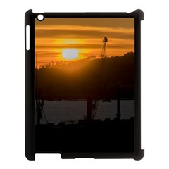 Aerial View Sunset Scene Of Montevideo Uruguay Apple Ipad 3/4 Case (black) by dflcprints