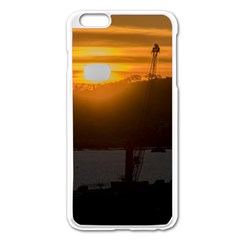 Aerial View Sunset Scene Of Montevideo Uruguay Apple Iphone 6 Plus/6s Plus Enamel White Case by dflcprints