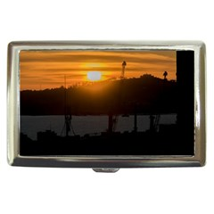 Aerial View Sunset Scene Of Montevideo Uruguay Cigarette Money Cases by dflcprints