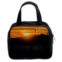 Aerial View Sunset Scene Of Montevideo Uruguay Classic Handbags (2 Sides) by dflcprints