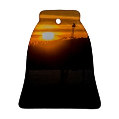 Aerial View Sunset Scene Of Montevideo Uruguay Ornament (bell)  by dflcprints