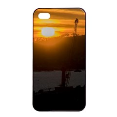 Aerial View Sunset Scene Of Montevideo Uruguay Apple Iphone 4/4s Seamless Case (black) by dflcprints
