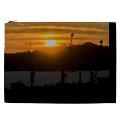 Aerial View Sunset Scene Of Montevideo Uruguay Cosmetic Bag (xxl)  by dflcprints