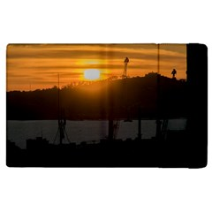 Aerial View Sunset Scene Of Montevideo Uruguay Apple Ipad 3/4 Flip Case by dflcprints